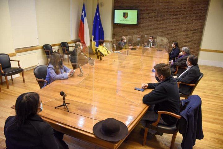 En la jornada del día de hoy, los Alcaldes  de la Asociación Regional de Municipalidades, realizaron saludo protocolar al Gobernador Regional Sr. Jorge Flies Añon.